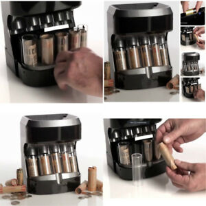 Coin Counter Sorter Automatic Machine Change Money Roller Battery Operated Retai