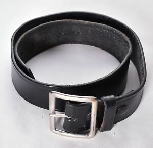Police Gould Goodrich Black Leather Belt size 32