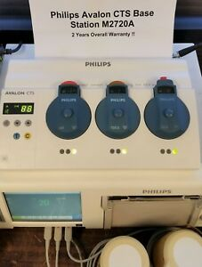 Philips M2720a Avalon Cts Base Station Fetal Telemetry 1999 2 Year Warranty
