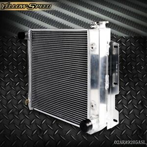 Aluminum Racing Radiator For 87 95 Jeep Wrangler Tj Yj V8 Conversion 97 02
