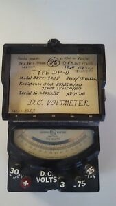 Vintage General Electric Dc Voltmeter Type Dp 9 Model 8dpv y215 05