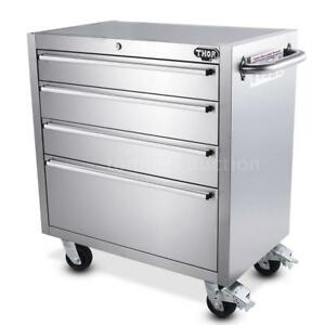 30 4 Drawer Tool Chest Rolling Storage Unit Cabinet Organizer Toolbox Cart P9f8