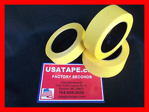Lot Of 24 Rolls 2 X60 Yrds Fine Edge Yellow Painters Masking Tape Made In Usa