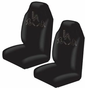 La Los Angeles Trucker Girls Crystal Studded Rhinestone Seat Covers Pair