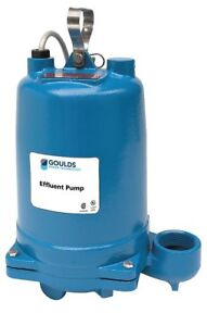 Goulds Water Technology 1 1 2 Hp Submersible Effluent Pump Operation Type