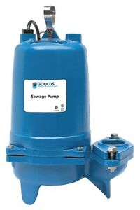 Goulds Water Technology 1 1 2 Hp Manual Submersible Sewage Pump 230 Voltage