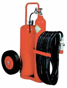 Kidde Dry Chemical Bc Class Wheeled Fire Extinguisher With 125 Lb Capacity And