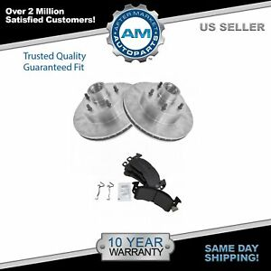Front Disc Brake Rotors Pads Kit Set For Buick Cadillac Chevy Gmc Olds Pontiac