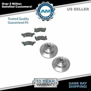 Front Disc Brake Rotors Posi Ceramic Pads Kit Set For Buick Cadillac Chevy Gmc