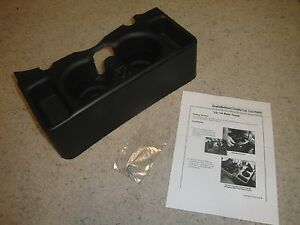 New 2013 Up Dodge Ram Center Console Cupholder Black Add On 1500 2500 3500
