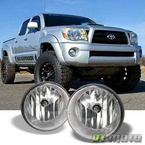 For 2005 2011 Toyota Tacoma 07 13 Tundar Bumper Fog Lights Lamps W switch Chrome