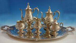 Sir Christopher By Wallace Sterling Silver Tea Set 5pc With Tray 1942