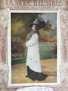 French Mode Illustree Sewing Patterns Tracings Oct 9 16 1910 Evening Dress