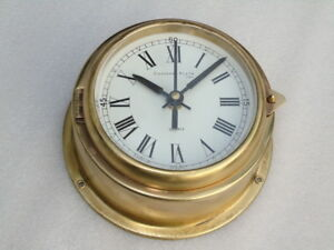 Rare Brass Cassens Plath Germany Ships Boat Yacht Marine Navigation Quartz Clock