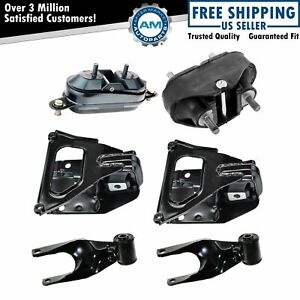 Complete Engine Transmission Torque Mount Set Of 6 Kit For Grand Prix Impala 3 8