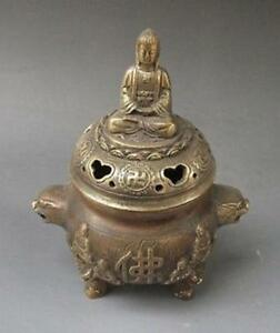 14 5 Cm China S Rare Bronze Sculpture Buddha Had The Buddha Incense Burner