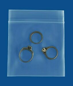 9000 Pcs 3 X 3 Jewelry Bags Reclosable 2 Mil Clear Poly Baggies