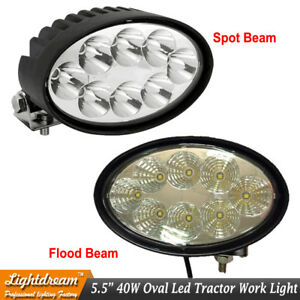 Oval 40w Cree Led Tractor Work Light For John Deere Massey Case New Holland X1