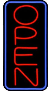 Large Led Open Sign Red Blue 24x12 Very Bright bd24b 1 Plus Remote