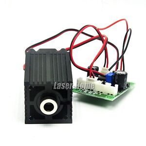 Focusable Dot 532nm 100mw Green Laser Diode Module 12v W Fan Driver Ttl