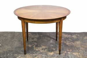 French Art Deco Sycamore Sunburst Dining Table By Dominique