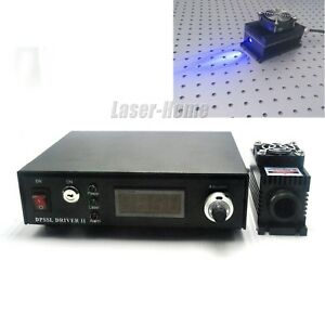 2000mw 405nm 2w Semiconductor Laser Dot Module ttl analog Tec adjustable Power