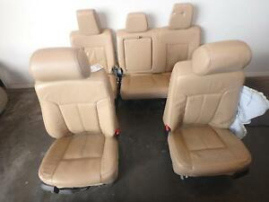 2011 2016 Ford F250 F350 Superduty Tan Leather Lariat Front Rear Seats Driver