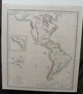 Original 1827 Teacher S Map Of North And South America