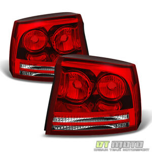 2006 2007 2008 Dodge Charger Tail Lights Brake Lamps Replacement Pair Left Right