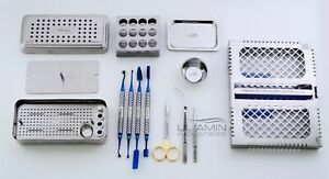 Dental Implant Prf Set Box Instruments Kit Cassette Carrier Compactor Surgical