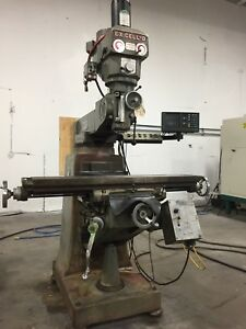 Ex cell o Model 602 Milling Machine Accu Rite Dro 9 X 48 Table Power Feed