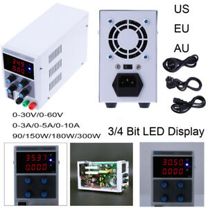Adjustable Digital Regulated Dc Power Supply 30v 60v 3a 5a 10a 90w 180w 300w Lab