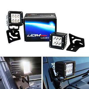48w Led Driving Pod Lights W A pillar Bracket Wiring For Jeep Wrangler Tj Jk