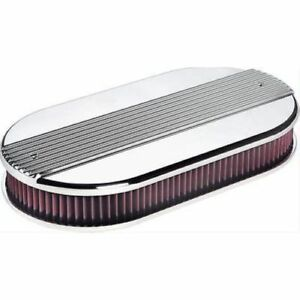 Billet Specialties 15650 Air Cleaner Dual Quad Ribbed Polished