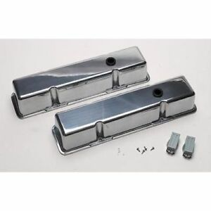 Billet Specialties 95229 Valve Covers Small Block Chevy Plain Tall