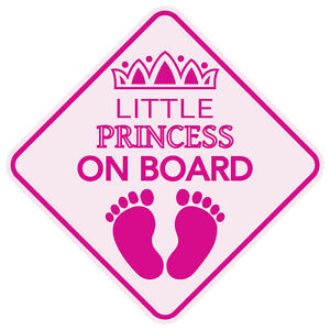 Reflective Little Princess On Board Sign Baby In Car Sticker Decal Made Usa