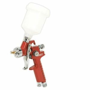 Sealey Hvlp Gravity Feed Touch up Spray Gun 0 8mm Set up For Water Based Paints