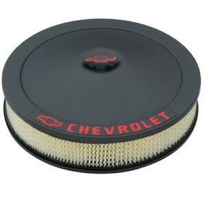 Proform 141 752 Classic Chevy 14 X3 Air Cleaner Kit In Blk Crinkle Finish