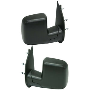 New Set Of 2 Left Right Side Non Heated Power Mirror Fits Ford Econoline Van