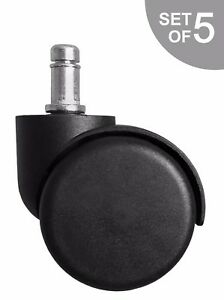 Heavy Duty Replacement Office Task Chair Caster Wheels Set Of 5 S5490 5