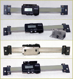 1 Mitutoyo 4 Electronic Linear digital Scale readout mounting Hwdr Tested