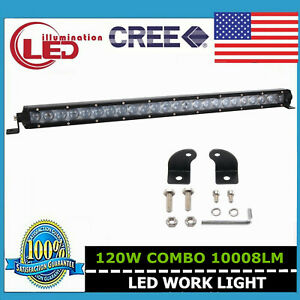 Slim 25inch 120w Single Row Cree Led Light Bar Combo Off road Truck Ford Boat