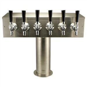 6 Tap T Style Draft Beer Tower