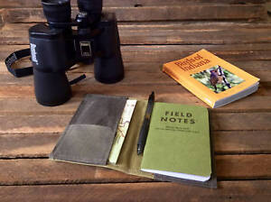 Field Notes Notebook Journal Cover Waxed Canvas With 2 Pockets Handmade