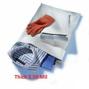 2000 9x12 White Poly Mailers Shipping Envelopes 3 Bags 2 5mil 9 X 12