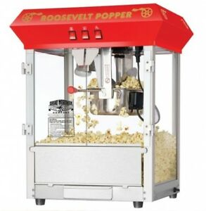Great Northern Red 8 ounce Antique Countertop Style Popcorn Popper Machine