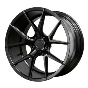 19x9 5 Verde Axis 5x120 22 Satin Black Rims New Set Of 4