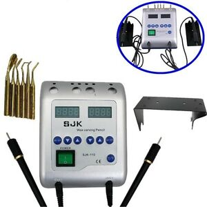 Electric Waxer Carving Knife Machine Double Pen 6 Wax Tips Dental Lab Equipment