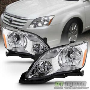 For Replacement 2005 2006 2007 Toyota Avalon Halogen Headlights Lamps Left Right