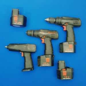 Snap On 3 8 Cordless Impact Drill Used Tool Lot Of 7pcs Parts Only